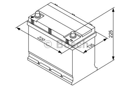 """Аккумулятор BOSCH S3 Silver 45Ah , EN300 , левый """"+"""" , ( Bosch 0 092 S30 170 ) 219*135*225 (Д*Ш*В)"""