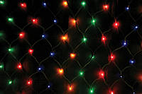 "Гирлянда ""сетка"", цветная, 1,5х1,2 м, 120 диодов / LED"