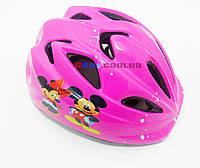 Вело Шлем детский Микки Pink (регулировка окружности)