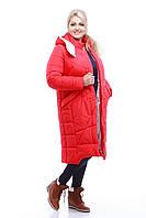 Пуховик - пальто зимнее женское овчина