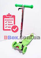 Самокат детский maxi scooter Medoo до 80 кг светящиеся колеса Салатовый