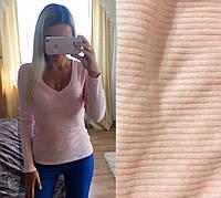 Модная женская кофта (турецкий трикотаж резинка, длинные рукава, глубокое декольте) РАЗНЫЕ ЦВЕТА!