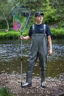 Рыбацкий полукомбинезон ПСКОВ черного цвета, оригинал, выполнен из качественного ПВХ , рыбалка