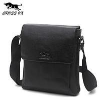 Мужская кожаная сумка из натуральной кожи CROSS OX на ремне. Сумка-барсетка.