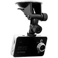 Видеорегистратор Globex HQS-215 5 Mpx, 140°, 2.7 TFT, microSD к 32Gb, запис звуку, подкурювач + акумулятор, miniHDMI + USB выход, Запись видео по