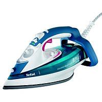 Утюг Tefal FV-5375 White/blue, утюг с подачей пара, компактный мощный утюг для дома, утюг электрический Тефаль