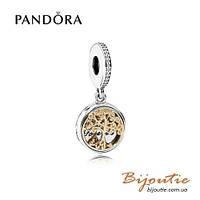Pandora Шарм СЕМЕЙНЫЕ ВЕТВИ #791988CZ серебро 925 золото 14к  Пандора оригинал