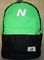 Спортивный городской рюкзак New Balance черный салатовый, фото 1