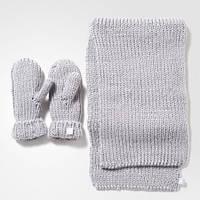 Женский комплект: варежки и шарф adidas originals AY9042