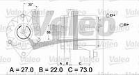 Генератор HC PARTS CA596IR; BOSCH 0986037130, 0986037160; WAI 1134301; VALEO 436242 на Fiat Tipo, Tempra