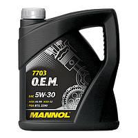 Моторное масло MANNOL 7703 O.E.M. 5W-30 for Peugeot Citroen 208л