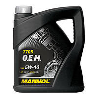Моторное масло MANNOL 7705 O.E.M. 5W-40 for Renault Nissan 60л