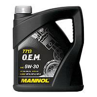 Моторное масло MANNOL 7713 O.E.M. 5W-30 for Hyundai Kia 208л