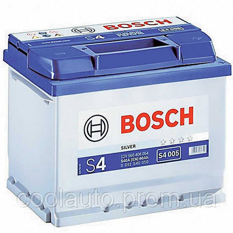 Аккумулятор Bosch S4 60AH/540A (S4005), фото 2
