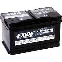 Аккумулятор Exide Micro-Hybrid 80AH/720A (EL800)