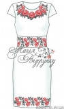 Ткань с рисунком для вышивки бисером Заготовка платья Розы