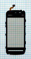 Тачскрин сенсорное стекло для Nokia 5228/5230 black