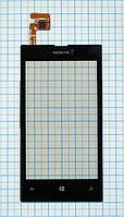 Тачскрин сенсорное стекло для Nokia Lumia 520 black