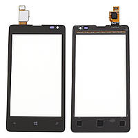 Тачскрин сенсорное стекло для Nokia Lumia 532 black