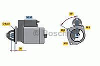 Стартер (1,6 квт, 12 в)  HC PARTS CS374, CS286; BOSCH 0001110025, 0001110082, 0001110005 на Fiat Ritmo