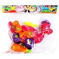 Животные конструктор (3 вида, разноцветные): 15 деталей, 13 винтов, отвертка.
