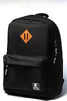 Спортивный городской рюкзак YSTB All Black черный (рюкзаки молодежные, велосипедный рюкзак, рюкзаки городские)