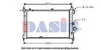 Радиатор охлаждения двигателя NISSENS 63278A, 63011, 63278, 63089; POLCAR 5507084 на Опель Кадет, Opel Astra
