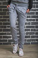 Женские спортивные штаны на манжете светло-серые