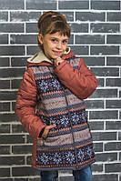 """Пальто зимнее для девочки  """"Орнамент-2"""", фото 1"""