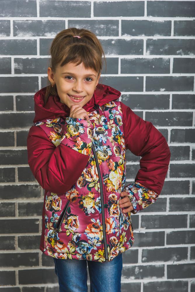 Куртка для девочки зимняя бордо, фото 1