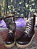 Берцы. Модель: Теплые на меху, кожаные, коричневые, фото 3