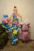 Яркая четверка с мальчиком из шаров