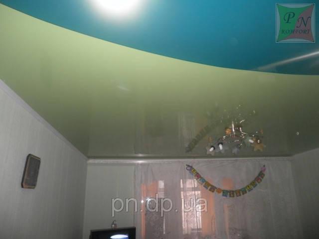 Двухуровневый натяжной потолок 6