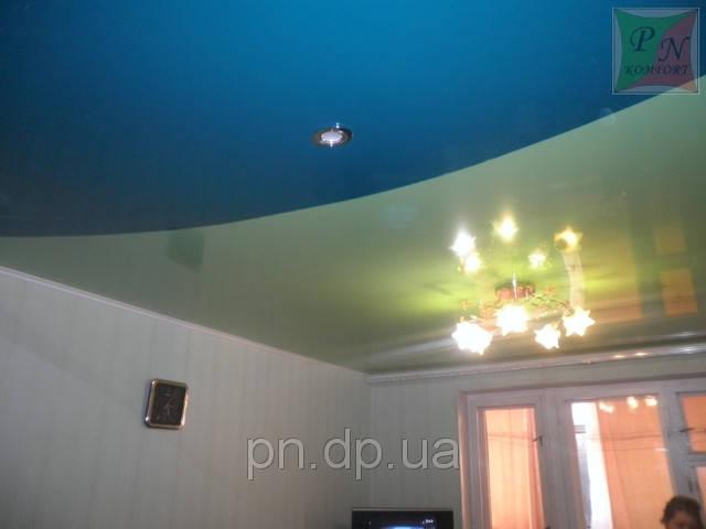 Двухуровневый натяжной потолок 15