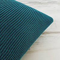 Подушка декоративная Ohaina на пуговицах вязаная 40х40 хлопок цвет океан
