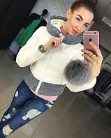 Женская модная куртка со вставкой Колумб Евро-Зима