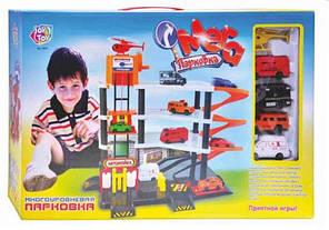 Гараж Joy Toy 0846, 4 яруса, 4 машинки, вертолёт, фото 2