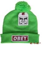 Зимняя шапка Obey зеленая