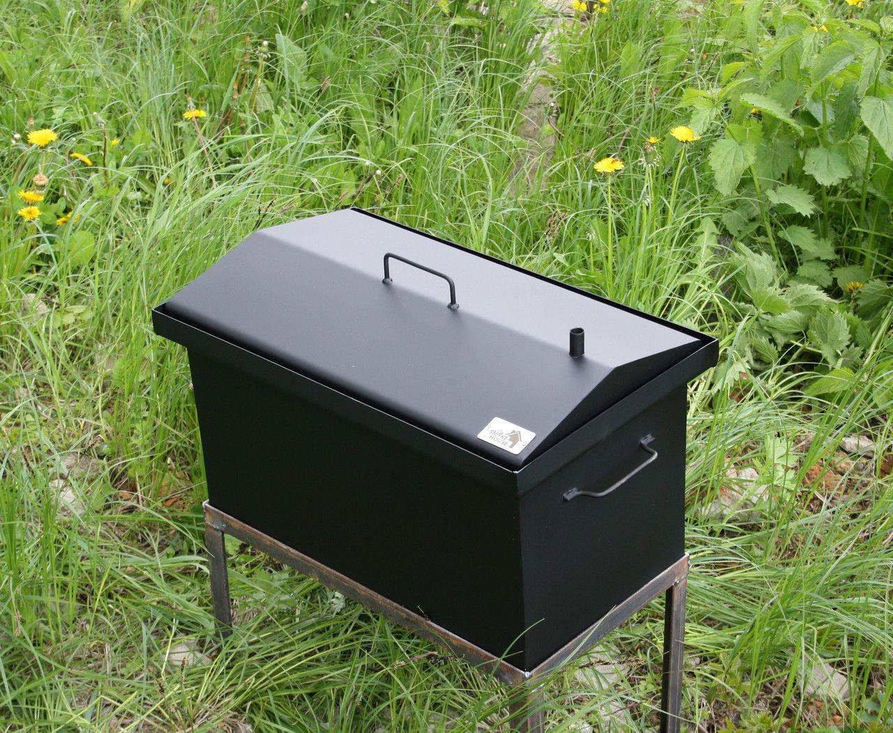 Купить коптильню горячего копчения с крышкой домиком шланг пищевой пвх для самогонного аппарата