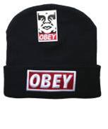Шапка Obey Зимняя черная
