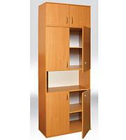 Шкаф книжный полузакрытый 4-х дверный 802х403х2186 мм  (380мм внутр)