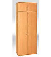 Шкаф для одежды с выдвижной штангой  2-х дверный   802х403х2186 мм  (380мм внутр)