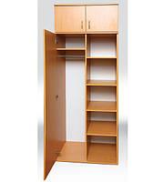 Шкаф для одежды и книг, полузакрытый, 1-на дверный   802х519х2186 мм  (496мм внутр)