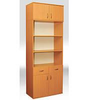Шкаф книжный с 2 ящиками,  2-дверный   802х403х2186 мм  (380мм внутр)