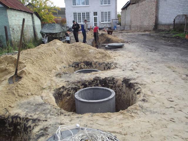 Септик из бетонных колец 6