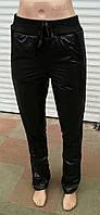 Женские зауженные брюки плащевка  на флисе