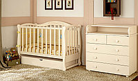 Детская кроватка Prestige 5 с комодом пеленатором VIP