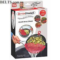 Универсальный дуршлаг-накладка Better Strainer