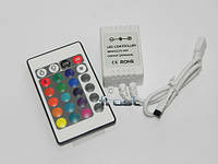 Контроллер RGB 6А ИК пульт-24 кнопки 72Вт