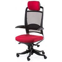 Офисное кресло FULKRUM DEEPRED FABRIC, BLACK MESH